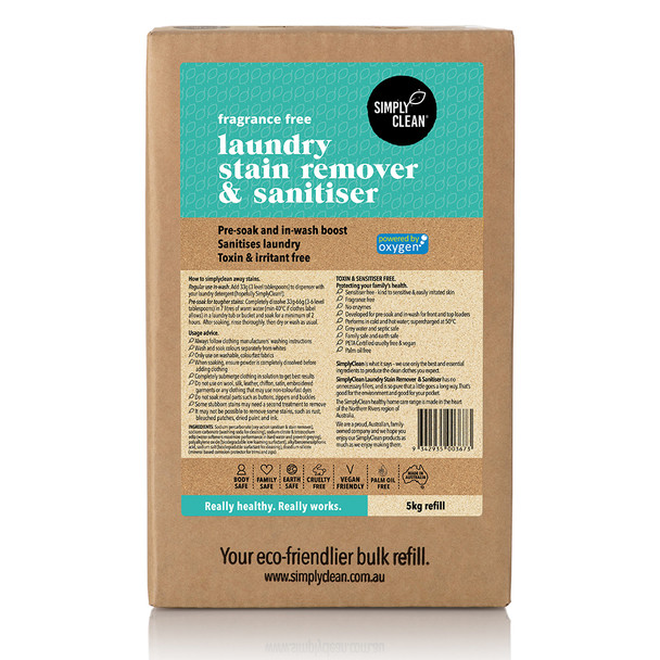 Fragrance Free Laundry Stain Remover & Soaker Box 5KG