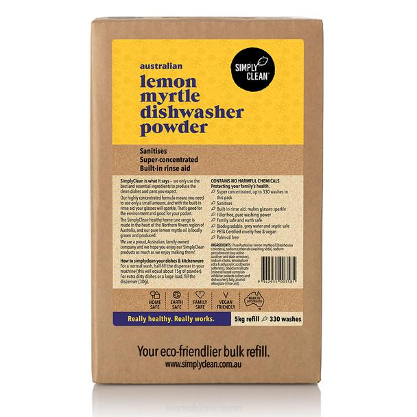 Lemon Myrtle Dishwasher Powder Box 5KG
