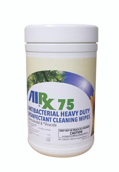 Airx RX 75 Anti-Bacterial Disinfectant/Cleaner Wipes