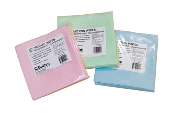 Micron Wipe 10 packs in red, green and blue.