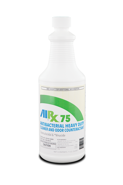 RX 75 Spray & Wipe Disinfectant Cleaner Fresh Herbal Scent Quart