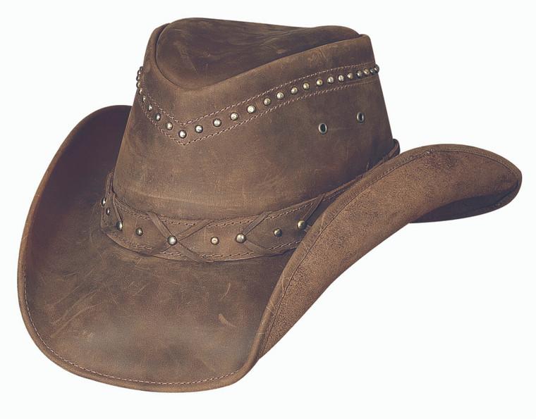 Burnt Dust, Top Grain Leather Cowboy Hat, Bullhide hats.