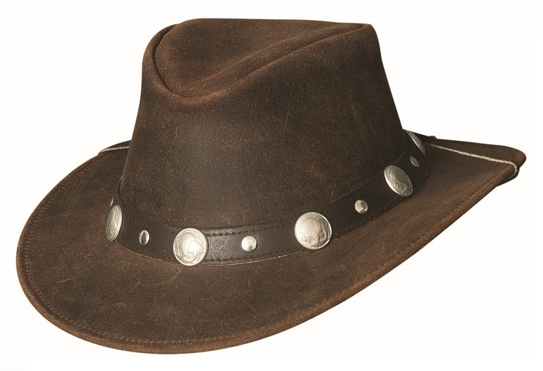 ARAPAHOE Chocolate Leather  Western Cowboy Hat by Bullhide MonteCarlo Hats