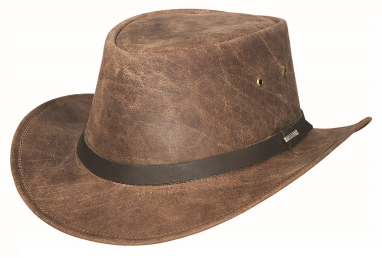 PIKES PEAK Chocolate Leather  Western Cowboy Hat by Bullhide MonteCarlo Hats
