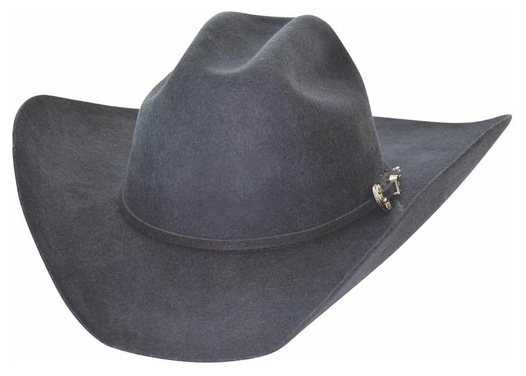 KINGMAN 4X Dark Gray Premium Wool Western Cowboy Hat by Bullhide MonteCarlo Hats