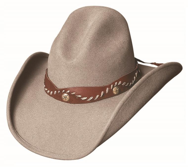 PISTOL CREEK Sand Premium Wool Felt Western Rodeo Cowboy Hat by Bullhide MonteCarlo Hats