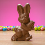 Solid milk, dark or white chocolate walking rabbit #33