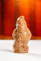 8 oz solid milk chocolate santa