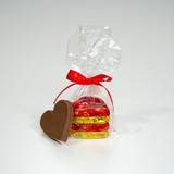 4-piece Foiled Milk Chocolate Hearts