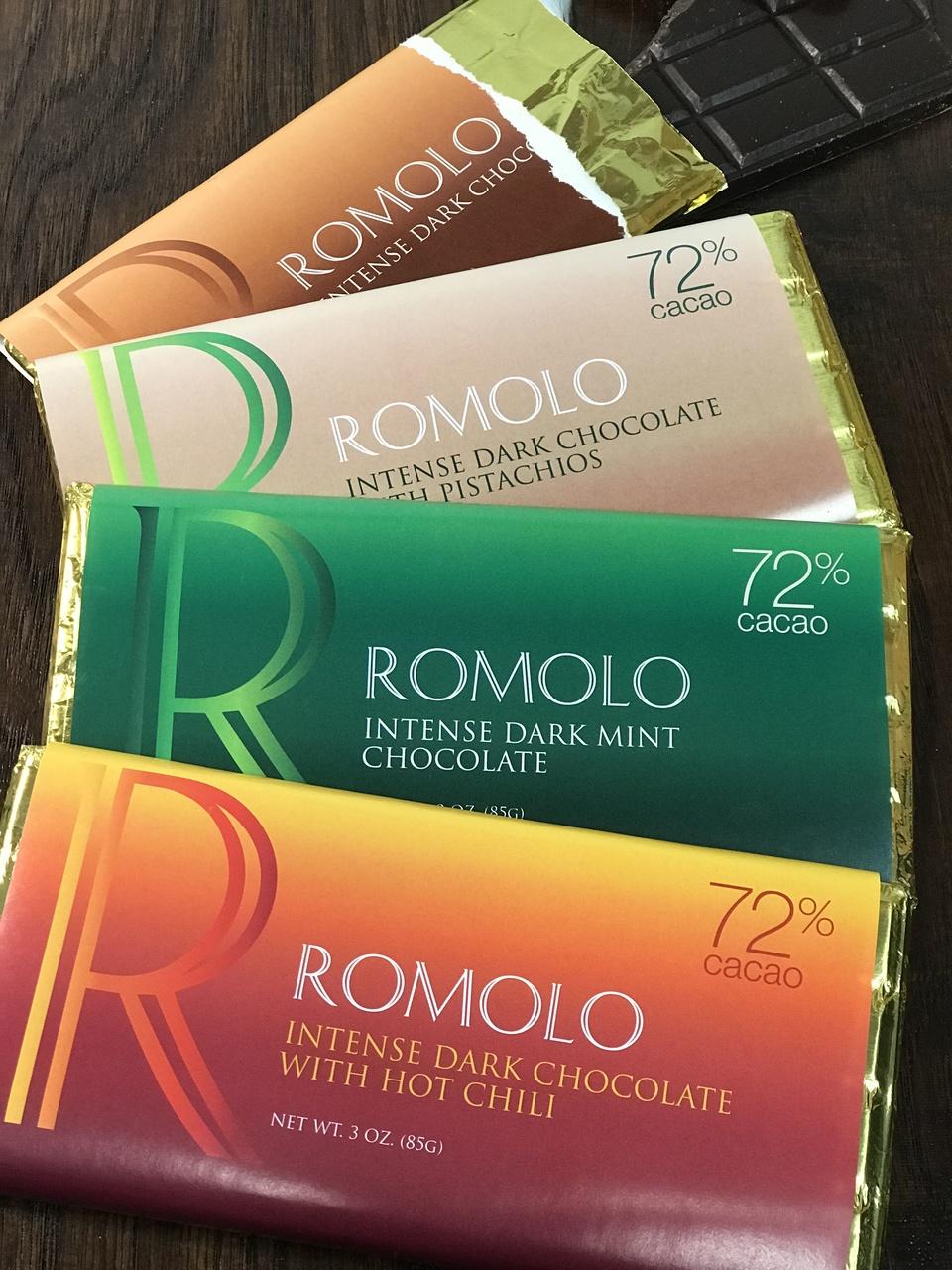 72% Cacao Pure Dark Chocolate Bars