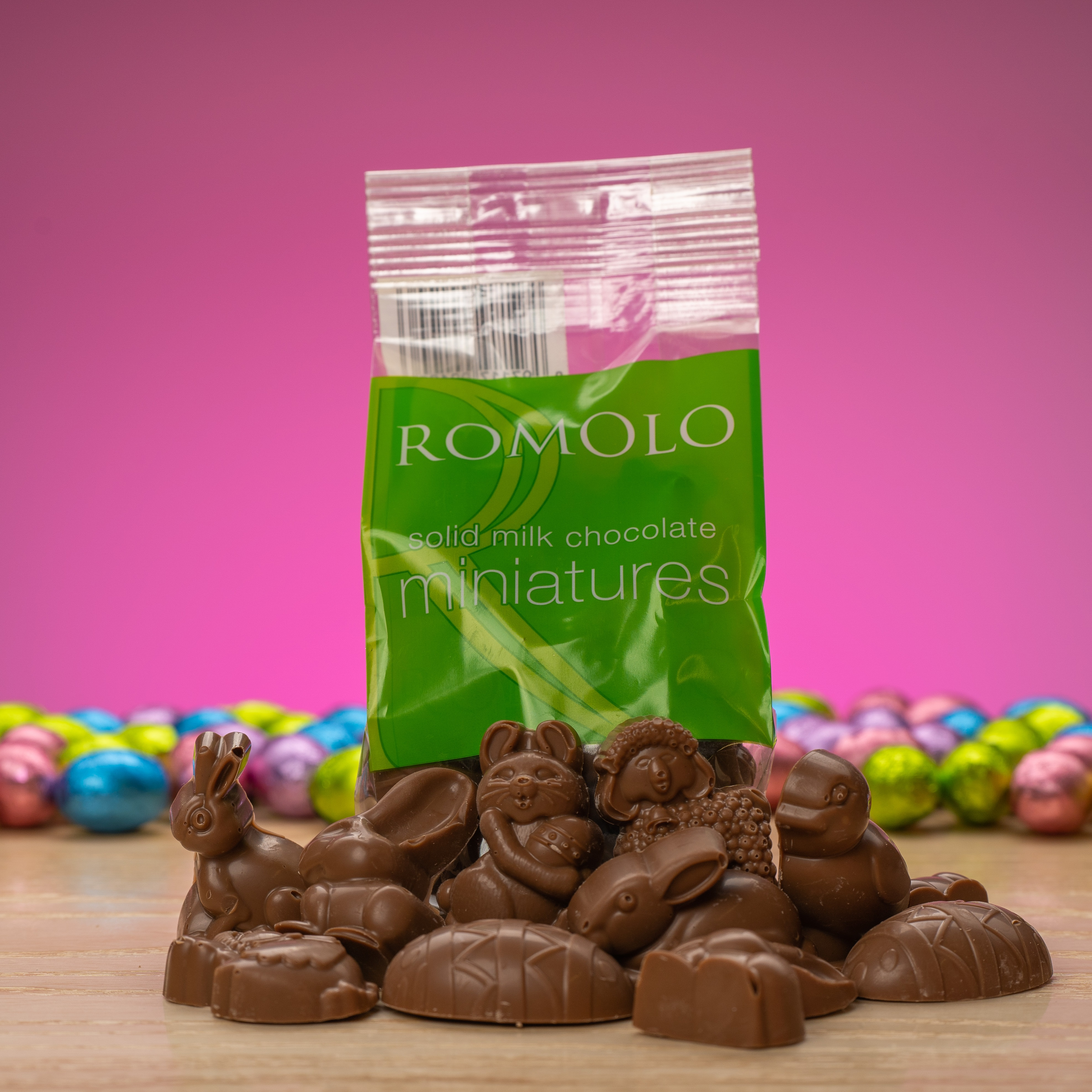 solid milk chocolate Easter miniatures