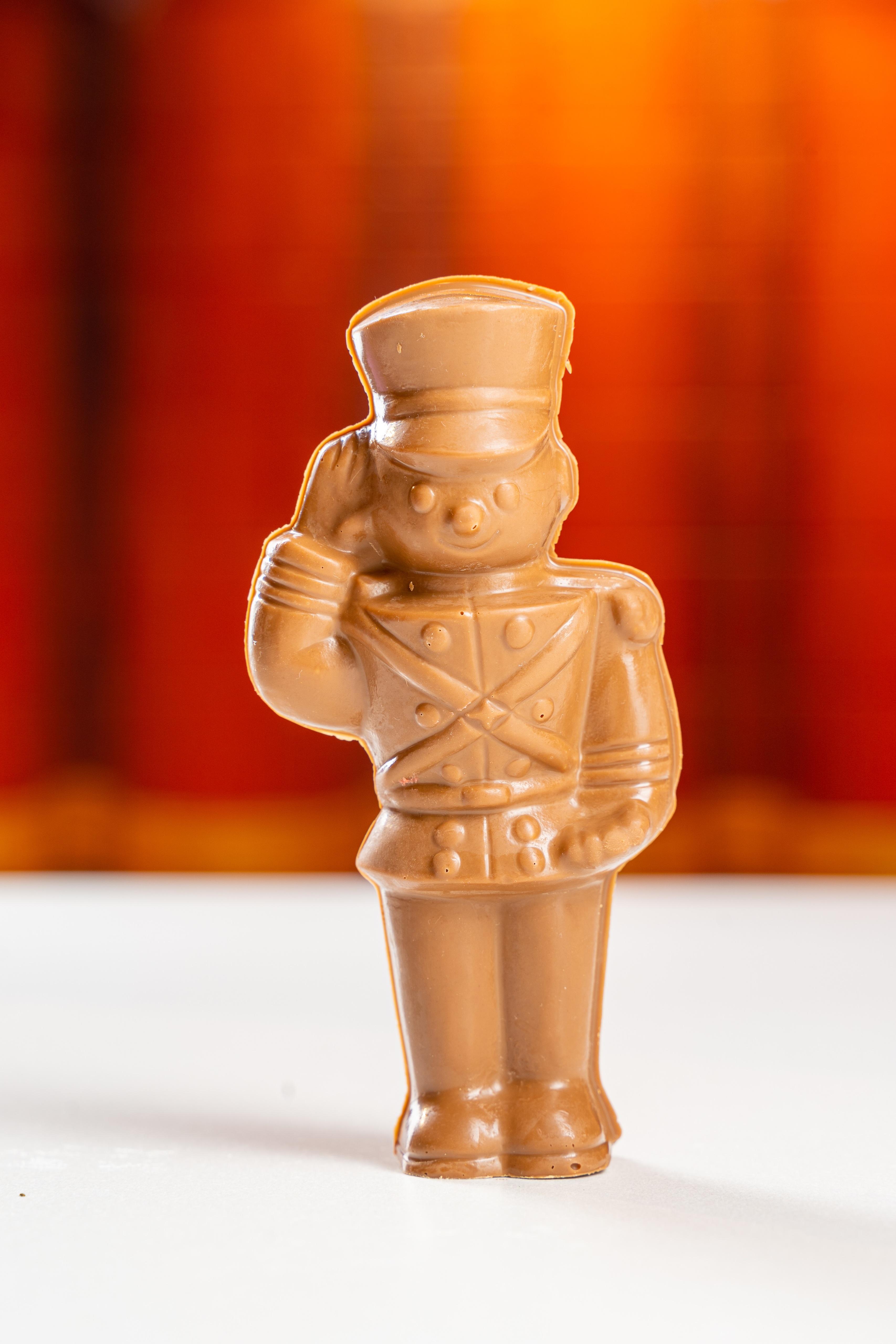 solid milk chocolate tin soldier