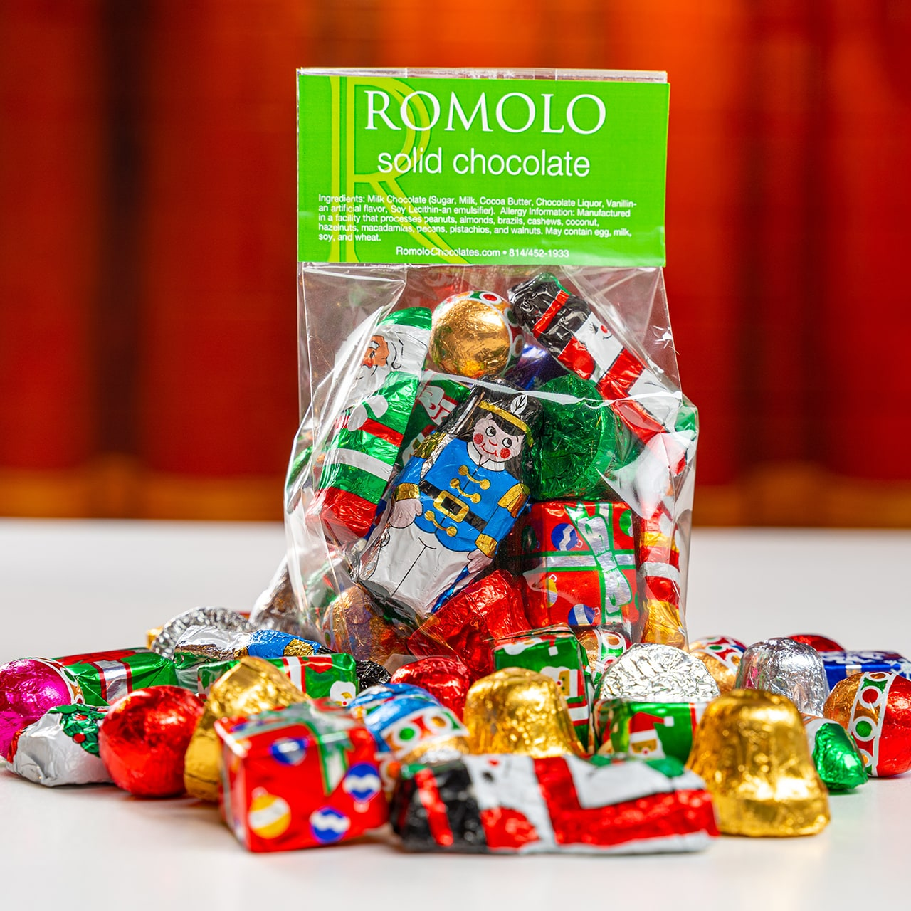 Holiday-Foiled Solid Milk Chocolate