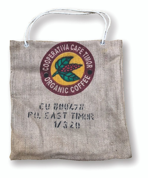 50x50cm Hessian tote bag, made in Melbourne.