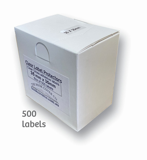 35mm x 35mm clear protection labels