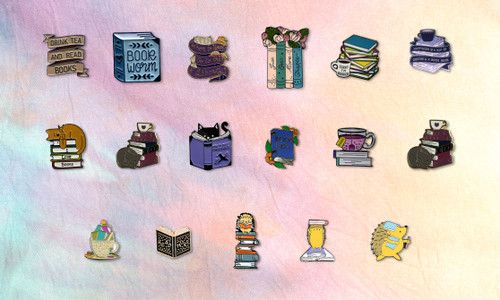 Our range of fun and amusing book themed pins