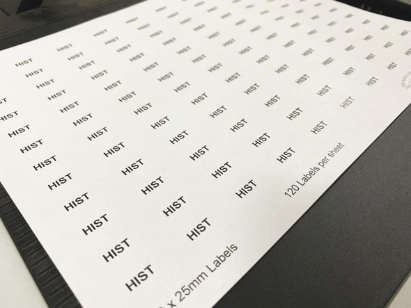 Printed Spine labels
