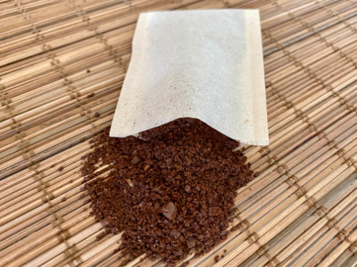 Self Fill Unbleached Paper Coffee Bag Heat Seal with Ground Coffee