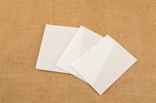 3 Biodegradable Paper Self Fill Teabags, Heat Seal, 6x8cm