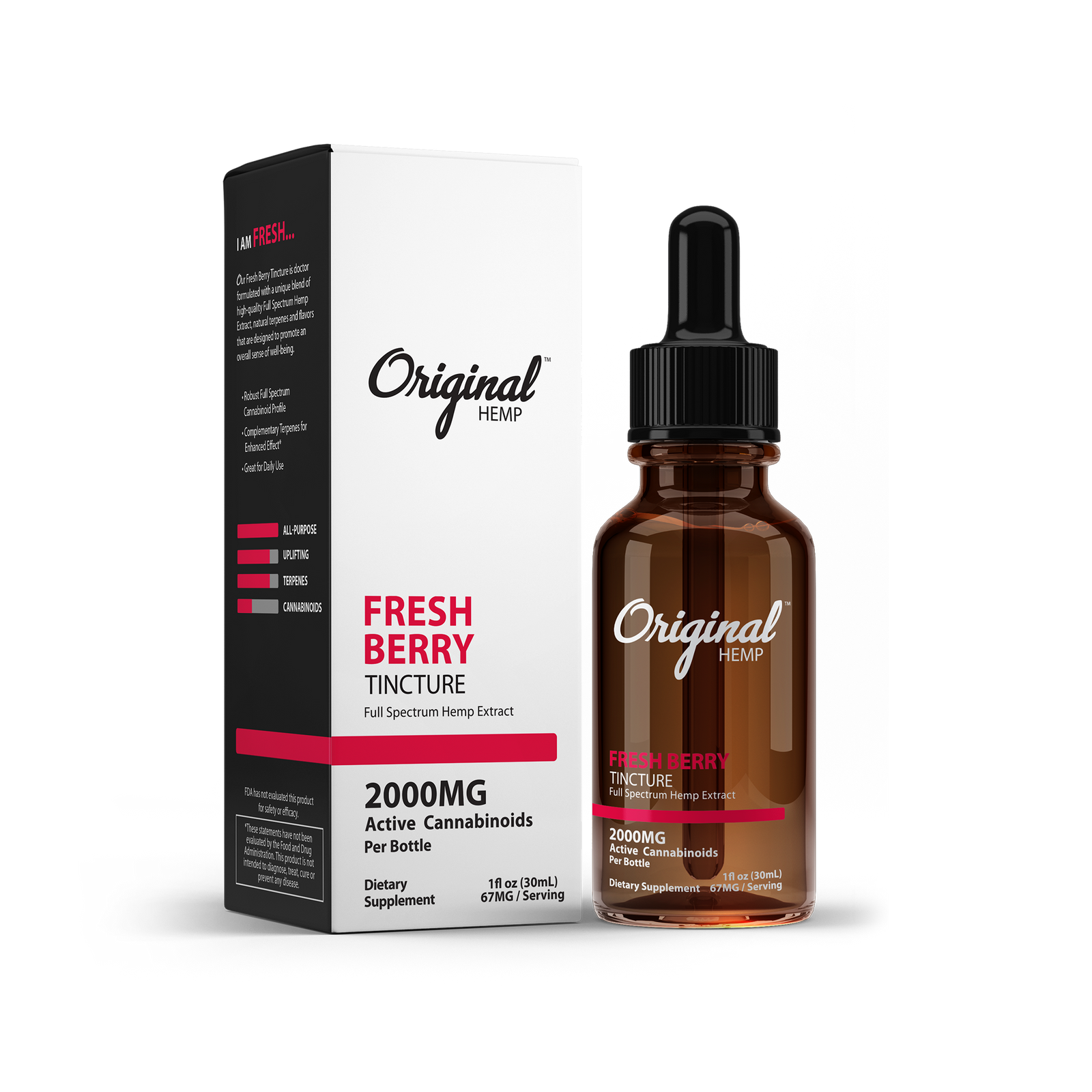 Fresh Berry MCT Oil by Original Hemp