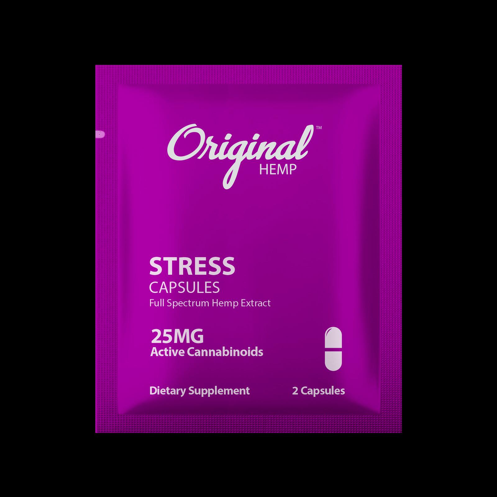 Original Hemp Stress Daily Dose Capsules - 25 mg