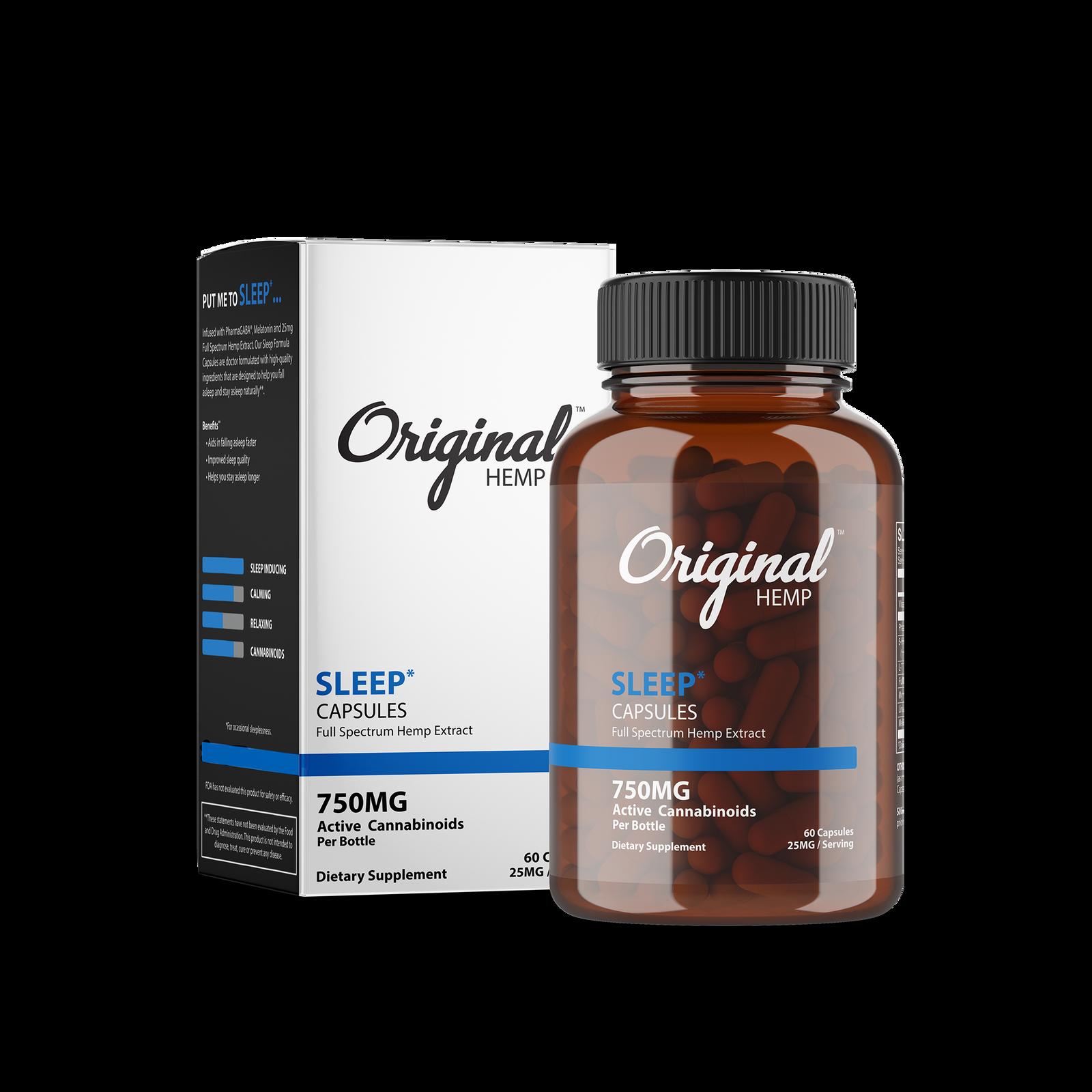 Original Hemp Sleep Capsules - 750 mg