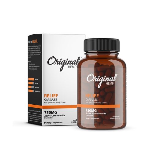 Original Hemp Relief Capsules - 750 mg