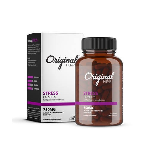 Original Hemp Stress Capsules - 750 mg