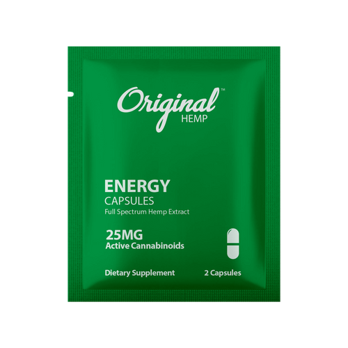 Original Hemp Energy Daily Dose Capsules - 25 mg
