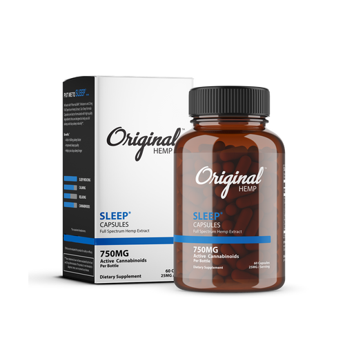 Original Hemp Sleep Capsules - 750 mg