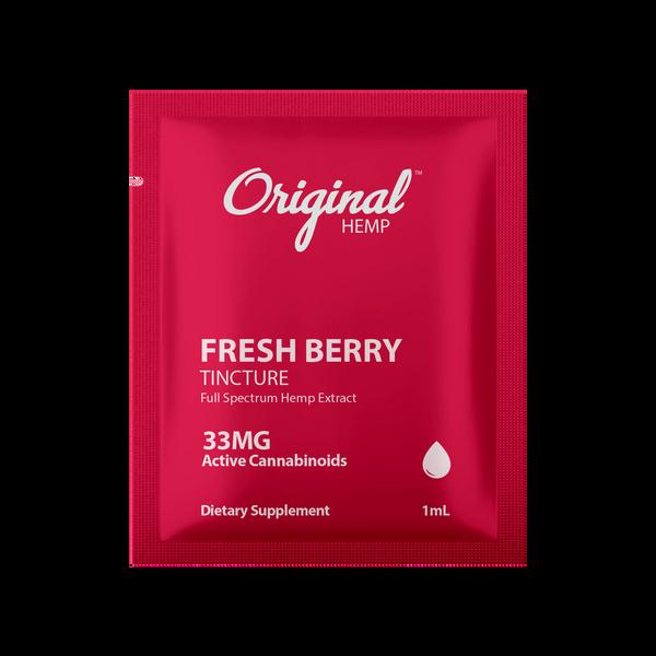 Original Hemp Fresh Berry Tincture Daily Dose Packet - 33 mg