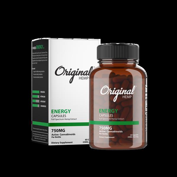 Original Hemp Energy Capsules - 750 mg