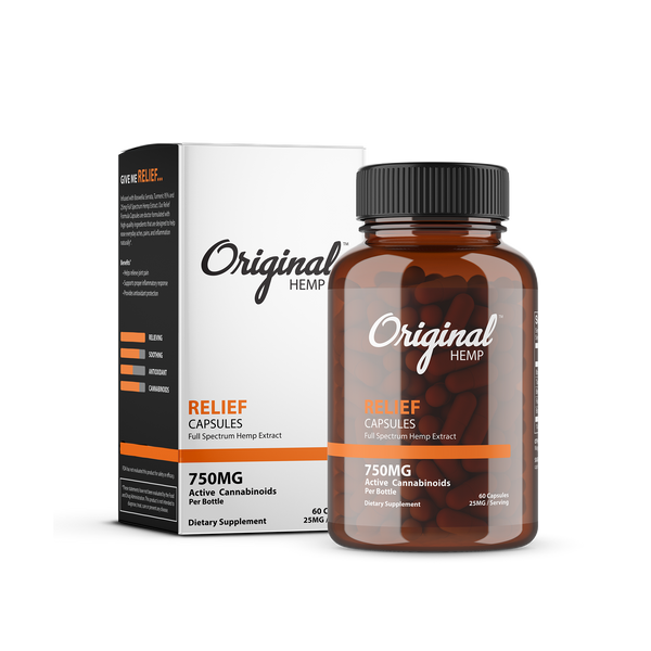 Original Hemp Relief Capsules - 750 mg