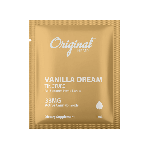 Original Hemp Vanilla Dream Tincture Daily Dose Packet - 33 mg
