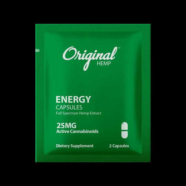 Original Hemp Energy Daily Dose Capsules - 25 mg
