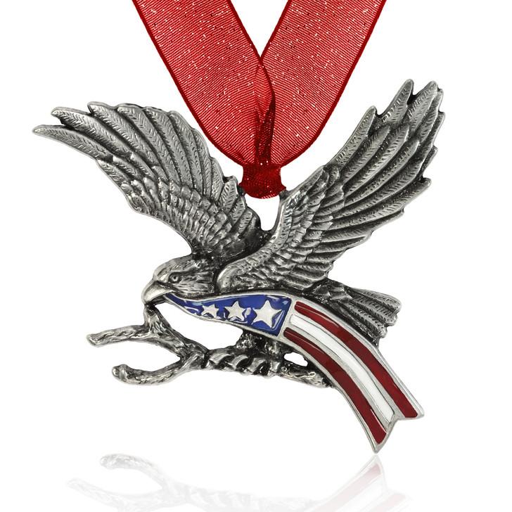 Eagle with Flag Ornament