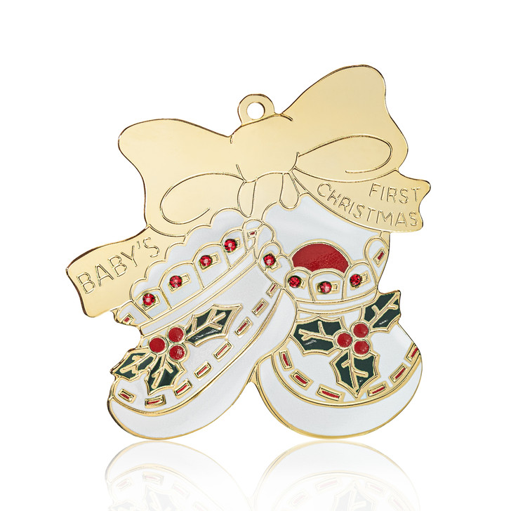 baby's first booties ornament