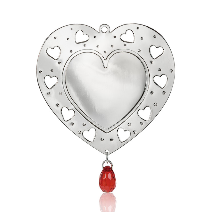 Cutout Silvertone Heart Ornament