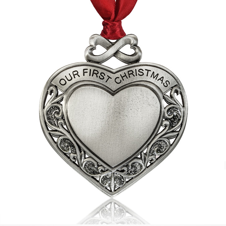 heart ornaments-wedding gifts-our first christmas gifts-our first christmas ornament-anniversary gifts-valentines day gifts