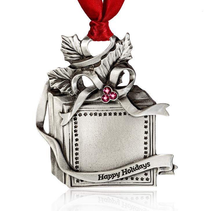 Genuine Pewter Gift Box Ornament