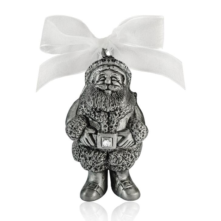 Pewter ornaments-santa clause ornament
