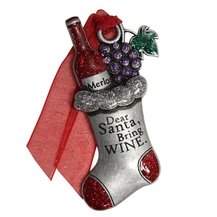 Wine Stocking Ornament