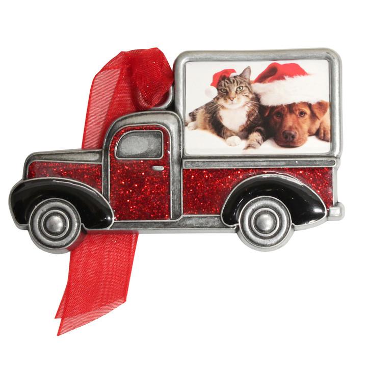 Pet Truck Photo Christmas Ornament
