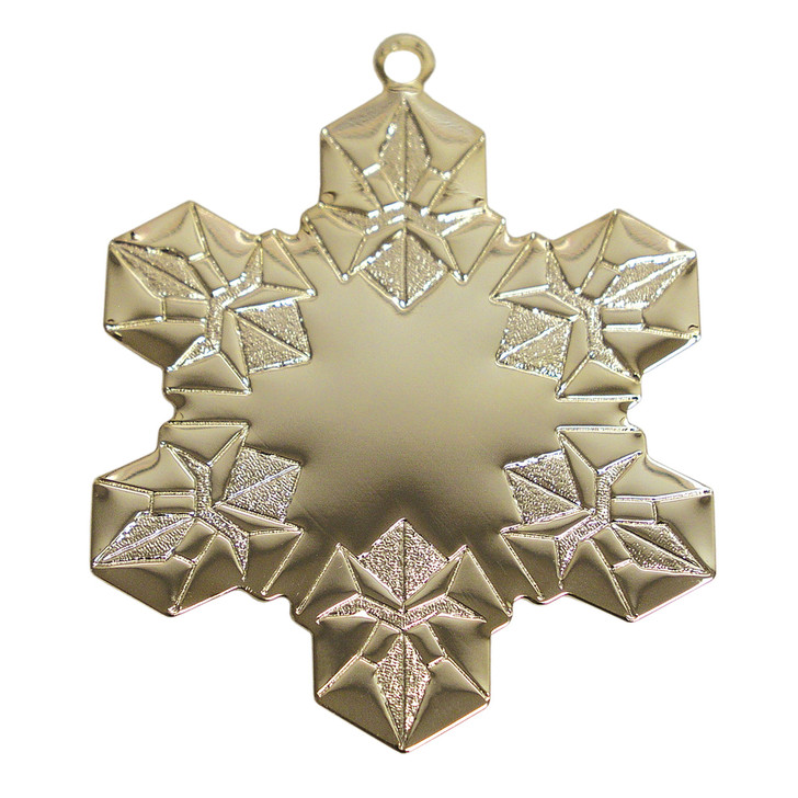 Goldtone Stipple Snowflake with Imprint