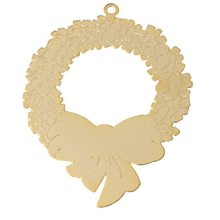 Goldtone Wreath with imprint