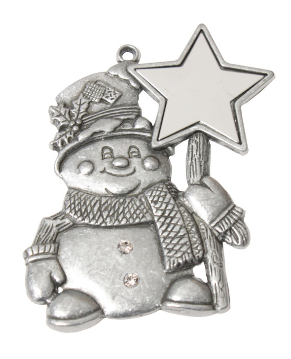 Pewter Snowman with Star Disc and imprint