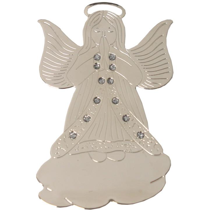 Silvertone Praying Angel