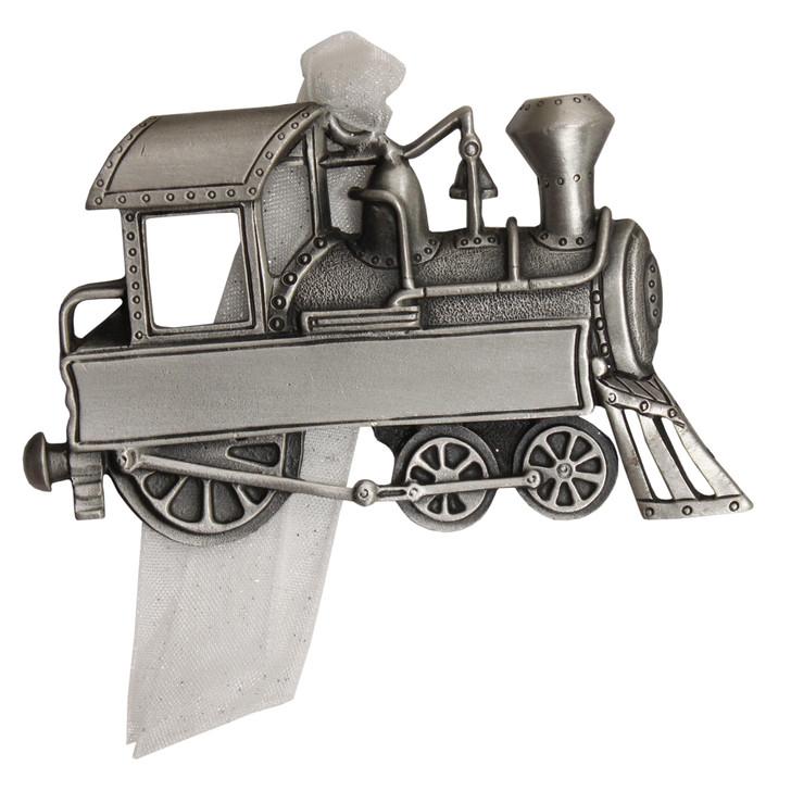 Genuine Pewter Train Ornament