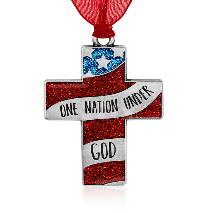 One Nation Under God Cross Ornament