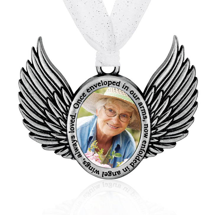 Remembrance Wings Picture Frame Ornament